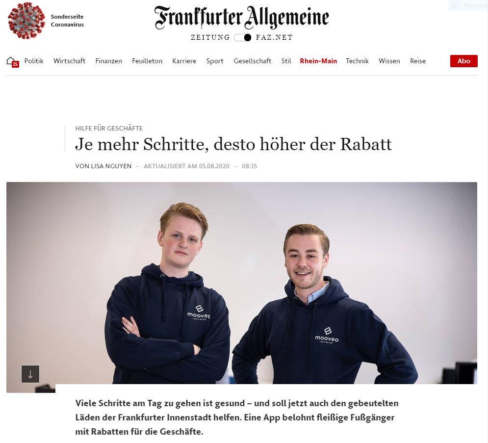 Mooveo in der Frankfurter Allgemeine Zeitung