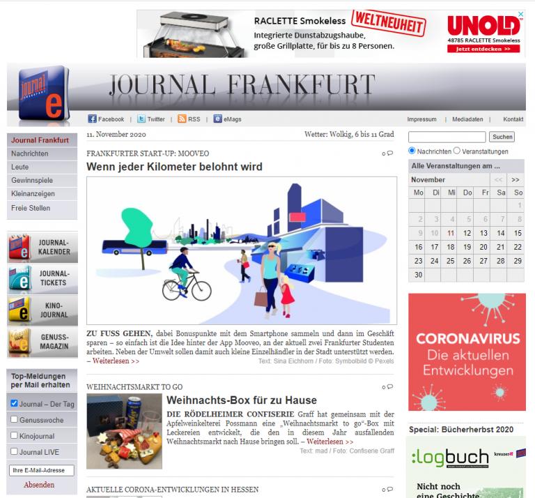 Mooveo im Journal Frankfurt